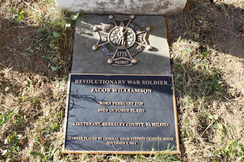 Jacob Williamson - SAR grave marker