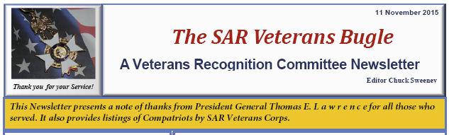 The SAR Veterans Bugle - 11 Nov 2015
